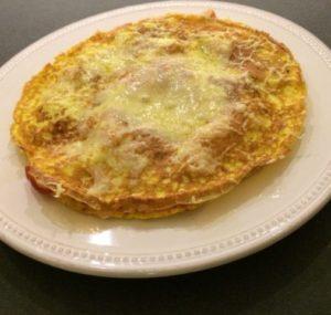 Omelet med serrano skinke